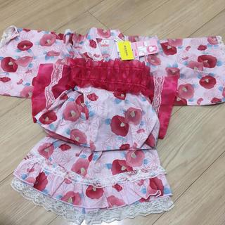 シマムラ(しまむら)の女の子 甚平 浴衣 ドレス 90センチ(甚平/浴衣)
