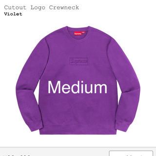 シュプリーム(Supreme)のSupreme Cutout Logo Crewneck Violet(スウェット)
