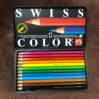 カランダッシュ(CARAN d'ACHE)のカランダッシュ SWISS COLOR 色鉛筆 12色 (色鉛筆)