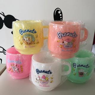 ピーナッツ(PEANUTS)のスヌーピー プラスチックカップ*5コセット*(グラス/カップ)