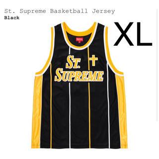 シュプリーム(Supreme)の希少 XL supreme basketball jersey 黒(その他)