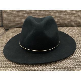 ジーナシス(JEANASIS)の最終日☆ジーナシス♪レディス帽子 黒 中折れハット フェルトハット(ハット)