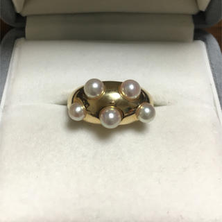 ミキモト(MIKIMOTO)のミキモト あこや真珠 ベビーパール リング K18YG 4.0mm 7.5g(リング(指輪))