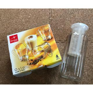 ボルミオリロッコ(Bormioli Rocco)のカプチーノカップ とiwakiサーバーの セット(グラス/カップ)