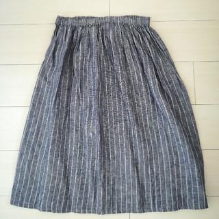フォグリネンワーク(fog linen work)のfog linen work リネンストライプスカート(ロングスカート)