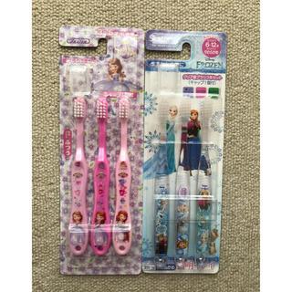 ディズニー(Disney)のソフィア・アナと雪の女王          歯ブラシ3本入り 2セット(歯ブラシ/歯みがき用品)