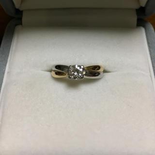 ジュエリーマキ(ジュエリーマキ)のダイヤモンド リング Pt850 K18YG 0.40ct G SI-1(リング(指輪))