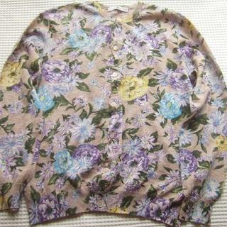 フォーティファイブアール(45R)の春夏 45R 45rpm ラナンキュラス花柄カーディガン サイズ2(カーディガン)