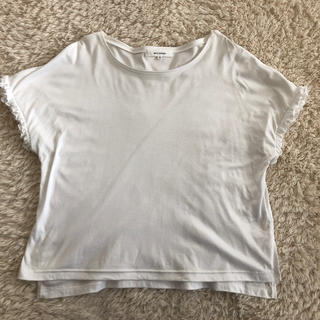 エムプルミエ(M-premier)のm's select   袖フリルTシャツ(Tシャツ(半袖/袖なし))