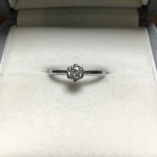 ジュエリーマキ(ジュエリーマキ)のダイヤモンド リング Pt850 0.24ct F SI-1(リング(指輪))