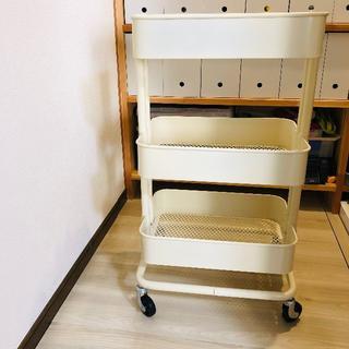 イケア(IKEA)のIKEA ロースコグ ワゴンラック ベージュ(キッチン収納)