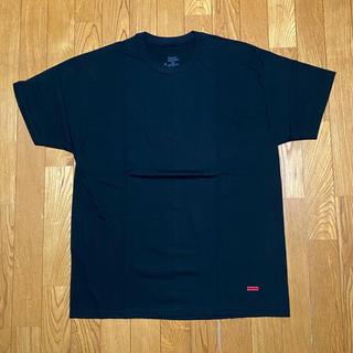 シュプリーム(Supreme)のSUPREME HANES TAGLESS TEES 黒1枚 シュプリーム(Tシャツ/カットソー(半袖/袖なし))