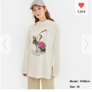 ジーユー(GU)のGU♡グラフィックロングスリーブT♡S(Tシャツ(長袖/七分))