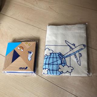 エーエヌエー(ゼンニッポンクウユ)(ANA(全日本空輸))のANA 非売品 オリジナルエコバッグ 脳育タングラム(エコバッグ)
