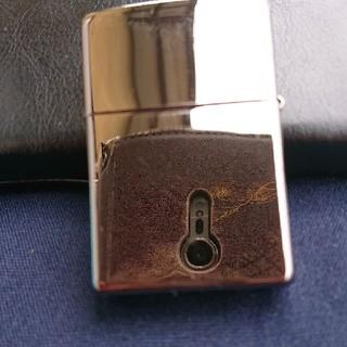 ジッポー(ZIPPO)の2003年黒のジッポライター(タバコグッズ)