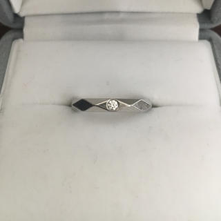 ブシュロン(BOUCHERON)のブシュロン ダイヤモンド ファセット リング Pt950 3.0mm 4.3g(リング(指輪))