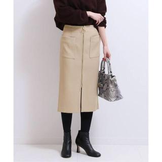 ノーブル(Noble)のノーブル   ダブルクロス フープジップタイトスカート(ひざ丈スカート)