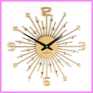 TIMEDECO きらめく掛け時計 GOLD おしゃれ かわいい(掛時計/柱時計)