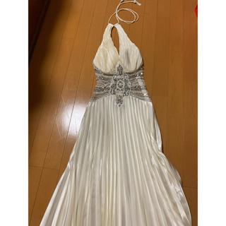 アンディ(Andy)のIRMAビジューホワイトドレス(ロングドレス)
