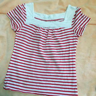 エニィスィス(anySiS)のレディーストップス 赤ボーダー(Tシャツ(半袖/袖なし))