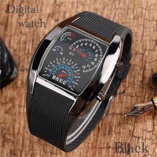 腕時計 デジタル腕時計 時計 LED スポーツ時計 ゴムベルト ウォッチ (腕時計(デジタル))