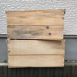 bicm0710さま専用 木箱2箱(アウトドアテーブル)