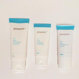 プロアクティブ(proactiv)の▶︎プロアクティブ+ 薬用3ステップセット30日サイズ 1度使用のみ(サンプル/トライアルキット)