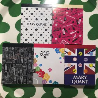 マリークワント(MARY QUANT)のマリークワント メモパッド5種セット(ノート/メモ帳/ふせん)