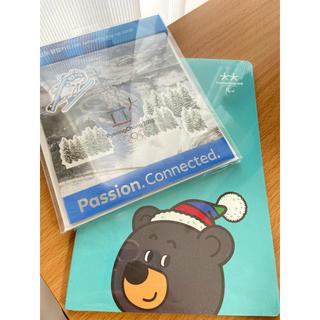 ピョンチャンオリンピック 公式ノートブック ポストカード(ノート/メモ帳/ふせん)