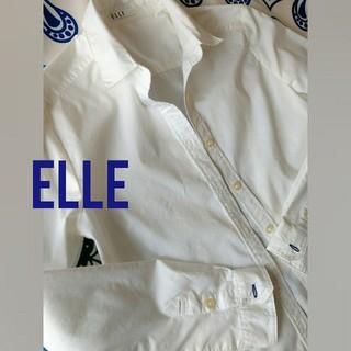 エル(ELLE)のELLE シャツ  白(シャツ/ブラウス(長袖/七分))