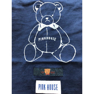 ピンクハウス(PINK HOUSE)のピンクハウス♡【未着用】くまさん🧸プリントとロゴワッペンのTシャツ♡(Tシャツ(半袖/袖なし))