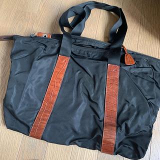 プラダ(PRADA)のPRADA プラダ ナイロンボストンバッグ 旅行鞄 南京錠付き クロコダイル(ボストンバッグ)