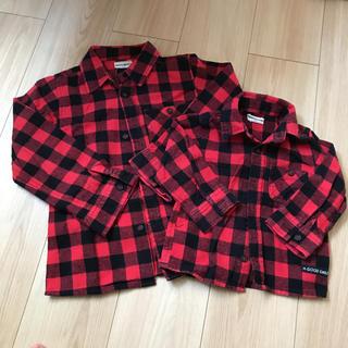 シマムラ(しまむら)のチェックシャツ ネルシャツ 120 80(ブラウス)