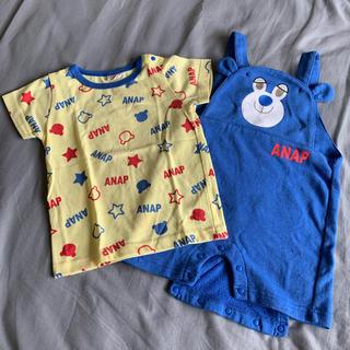 アナップキッズ(ANAP Kids)のANAP サロペット Tシャツ セット(その他)