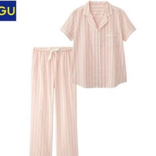 ジーユー(GU)の☆GU ピンク ホワイト白 ストライプ 半袖 パジャマ ルームウェア ジーユー☆(パジャマ)