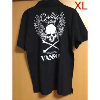 バンソン(VANSON)のVANSON/バンソン ポロシャツ 黒 両面両腕プリント XLサイズ 未使用(ポロシャツ)