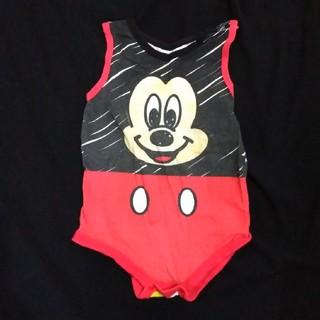 ディズニー(Disney)の【匿名配送】Disney ミッキーロンパース(90サイズ)(その他)