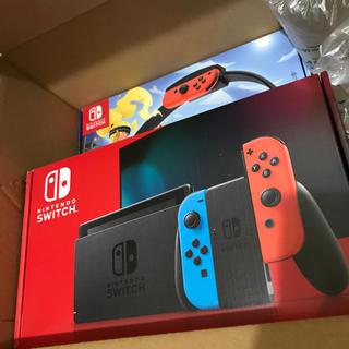 ニンテンドースイッチ(Nintendo Switch)の任天堂 Switch本体(グレー)リングフィットアドベンチャーセット(家庭用ゲーム機本体)