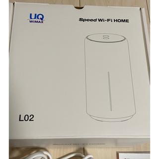 エーユー(au)のUQ WiMAX HUAWEI SPEED Wi-Fi HOME L02ホワイト(PC周辺機器)
