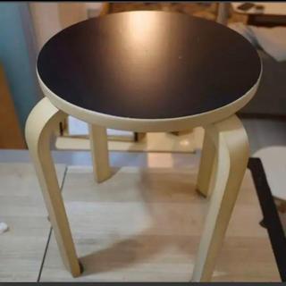 ニトリ(ニトリ)の木製スツール セロ ブラック 黒 ニトリ NITORI 直接取引限定(スツール)