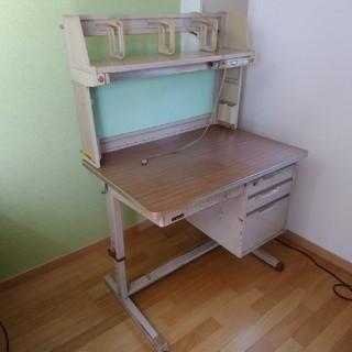昭和44年製 レトロ 初期くろがね 学習机(学習机)
