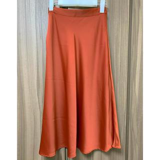 エイチアンドエム(H&M)の【新品未使用】H&M サテンスカート(ひざ丈スカート)