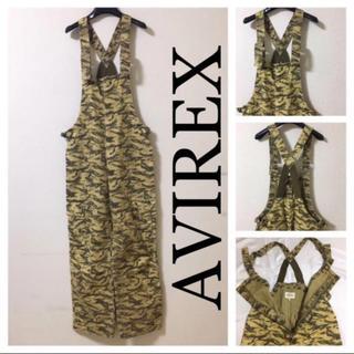 AVIREX - ◆AVIREX アヴィレックス◆ダック タイガーカモ オーバーオール サロペット
