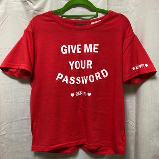 レピピアルマリオ(repipi armario)のrepipi armario 半袖Tシャツ(レッド)(Tシャツ(半袖/袖なし))