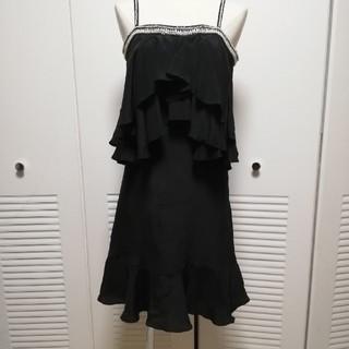 グレースコンチネンタル(GRACE CONTINENTAL)のグレースコンチネンタル GRACE  シルクワンピース ドレス パール装飾(ミニドレス)