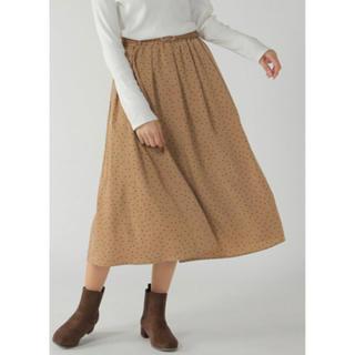 イッカ(ikka)の新品タグ付き  ikka  ベルト付き起毛ギャザースカート(ロングスカート)
