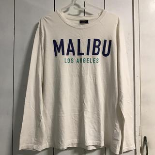 シマムラ(しまむら)のシンプル ロゴ 長袖 Tシャツ カットソー 白 L(Tシャツ/カットソー(七分/長袖))