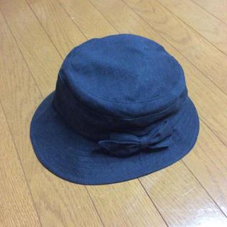 イオン(AEON)の帽子 バケットハット ネイビー 58cm(ハット)