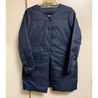 ムジルシリョウヒン(MUJI (無印良品))の無印良品MUJI 軽量ポケッタブルダウンコート 紺ネイビー(ダウンコート)