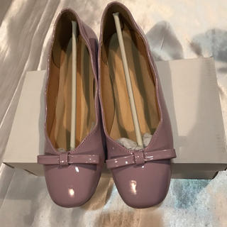 merlot - merlot plus◆新品◆ラベンダーりぼんバレエシューズパンプス/ローファー